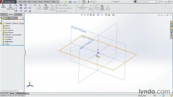 Understanding the 3D world: SOLIDWORKS 2014 Essential Training