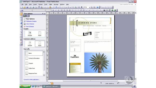 inserting/removing pages and navigating: Publisher 2003 Essential Training