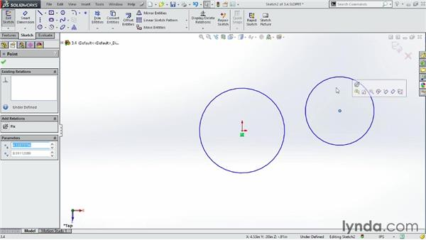 Using the Circle tool: SOLIDWORKS 2014 Essential Training