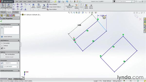 Drawing rectangles: SOLIDWORKS 2014 Essential Training