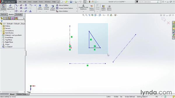 Using the mirror tools: SOLIDWORKS 2014 Essential Training