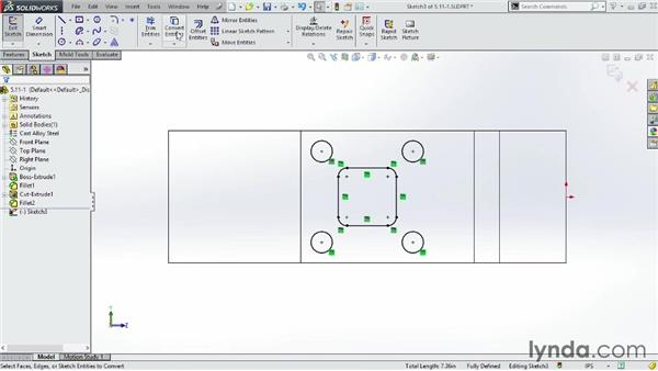 Using the Convert Entities command: SOLIDWORKS 2014 Essential Training