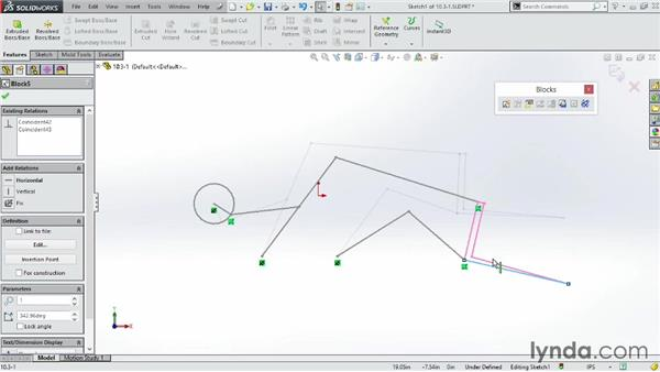 Designing with blocks: SOLIDWORKS 2014 Essential Training