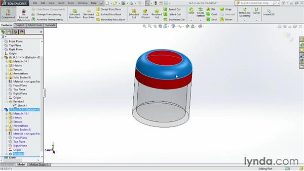 Linking sketches to other parts: SOLIDWORKS 2014 Essential Training