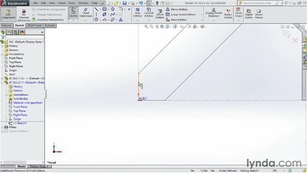 Linking to layout sketches: SOLIDWORKS 2014 Essential Training