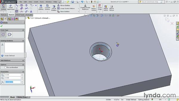 Understanding internal threads: SOLIDWORKS 2014 Essential Training