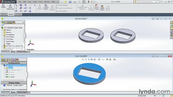 Building assemblies using part configurations: SOLIDWORKS 2014 Essential Training