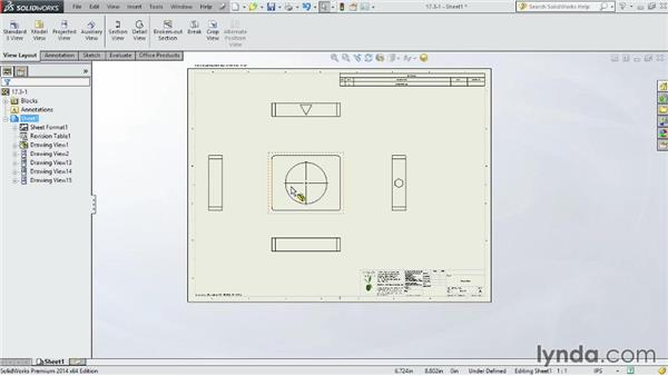 Choosing the correct projection angle: SOLIDWORKS 2014 Essential Training