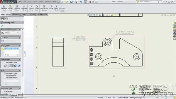 Creating holes and callouts: SOLIDWORKS 2014 Essential Training