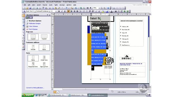 paragraph and line spacing: Publisher 2003 Essential Training