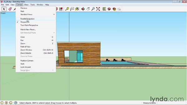 Creating camera views: SketchUp 2013 Essential Training