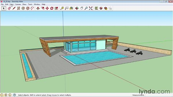 Shading faces and edges: SketchUp 2013 Essential Training