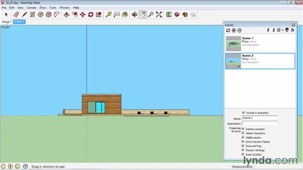 Creating scenes: SketchUp 2013 Essential Training
