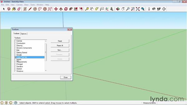 Using the toolbars: SketchUp 2013 Essential Training