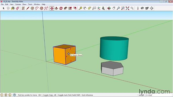 Selecting and moving objects: SketchUp 2013 Essential Training