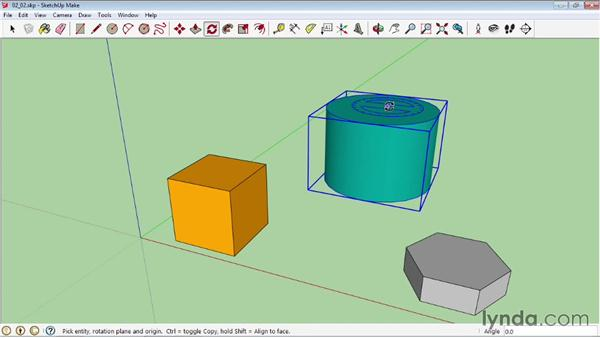 Scaling and rotating objects: SketchUp 2013 Essential Training