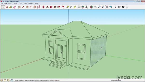 Manipulating faces and edges: SketchUp 2013 Essential Training