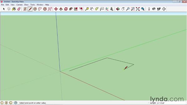 Line tool fundamentals: SketchUp 2013 Essential Training