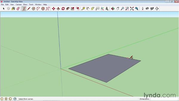 Using the Rectangle tool: SketchUp 2013 Essential Training