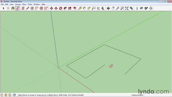 Eraser tools: SketchUp 2013 Essential Training