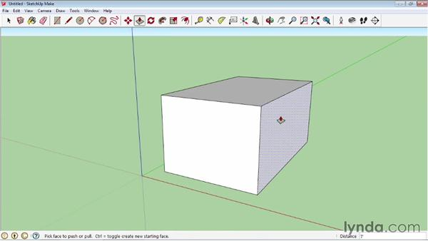 Pushing and pulling faces into 3D: SketchUp 2013 Essential Training