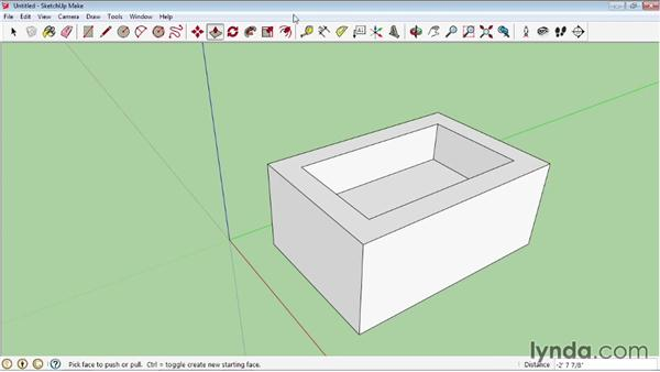 Using the Offset tool to create outlines: SketchUp 2013 Essential Training