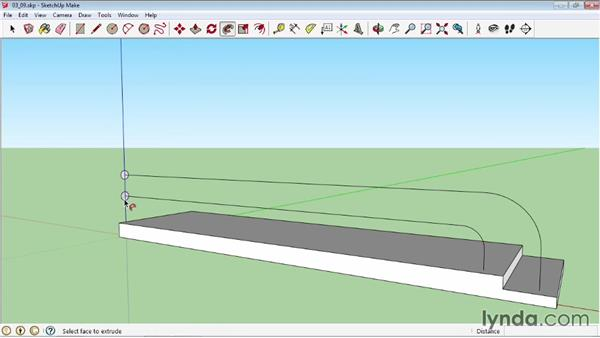 Using the Follow Me tool: SketchUp 2013 Essential Training