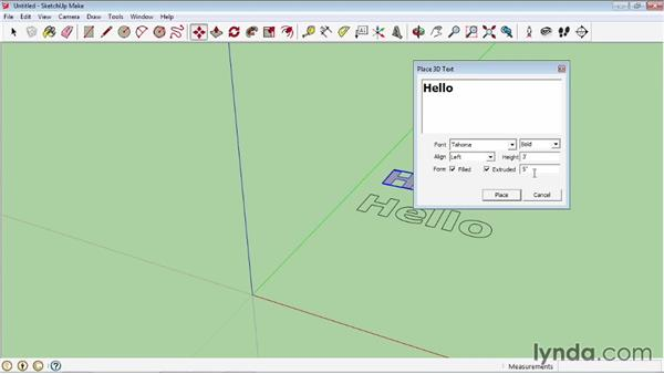 Creating 3D text: SketchUp 2013 Essential Training