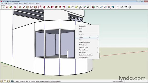 Softening round edges: SketchUp 2013 Essential Training