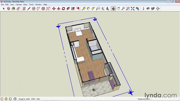 Creating sections: SketchUp 2013 Essential Training