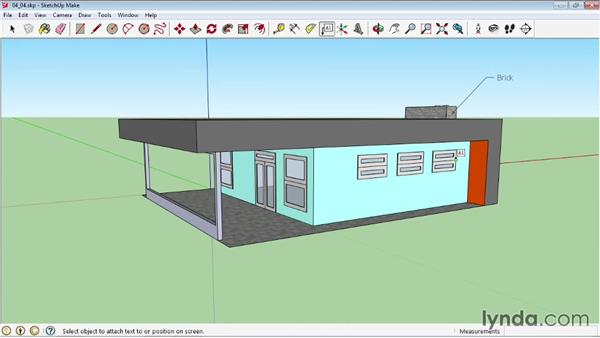 Creating labels: SketchUp 2013 Essential Training