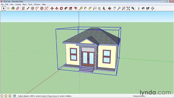 Grouping objects: SketchUp 2013 Essential Training