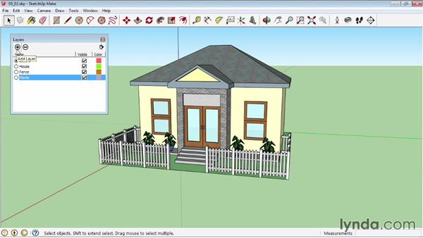 Working with layers: SketchUp 2013 Essential Training