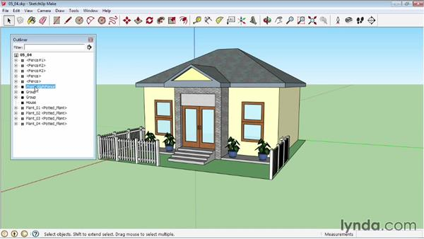 Hiding and unhiding objects: SketchUp 2013 Essential Training