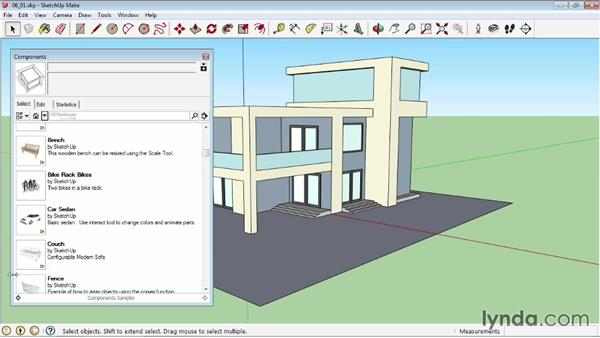 The Component window: SketchUp 2013 Essential Training