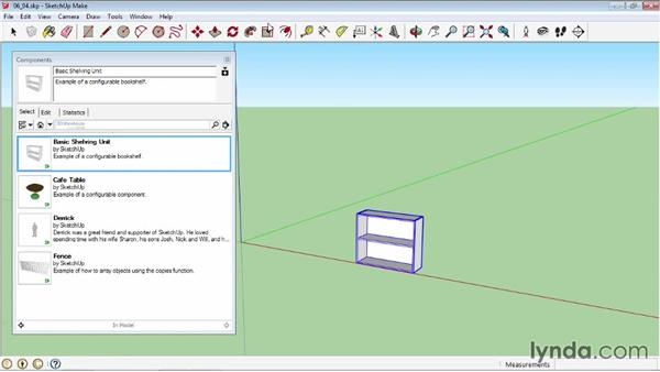 Using the Component Options window: SketchUp 2013 Essential Training