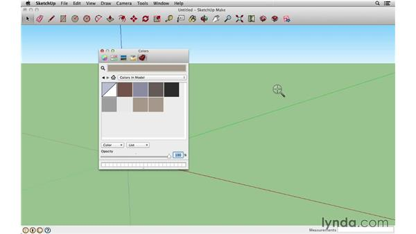 Using the Materials palette on a Mac: SketchUp 2013 Essential Training