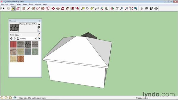 Applying materials: SketchUp 2013 Essential Training