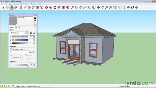 Editing materials: SketchUp 2013 Essential Training