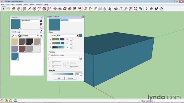 Creating materials: SketchUp 2013 Essential Training