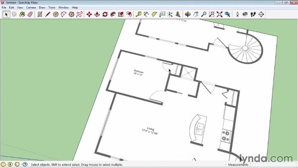 Creating a floor plan using bitmap images: SketchUp 2013 Essential Training