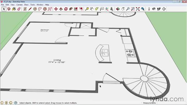 Drawing a structure from a floor plan for How to design a floor plan in sketchup