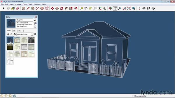 Applying styles: SketchUp 2013 Essential Training