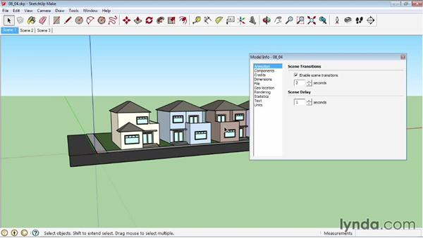 Basic animation: SketchUp 2013 Essential Training