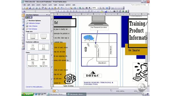 layering objects: Publisher 2003 Essential Training