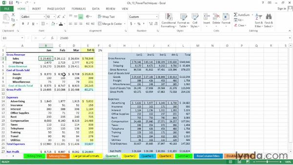 Creating linked worksheet images: Excel 2013: Advanced Formatting Techniques