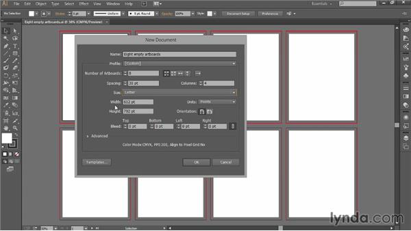 Creating a new document: Introducing Illustrator