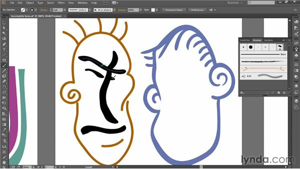 Using the Paintbrush tool: Introducing Illustrator