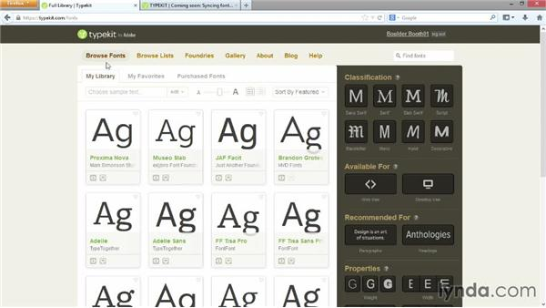 Installing fonts with Adobe Typekit