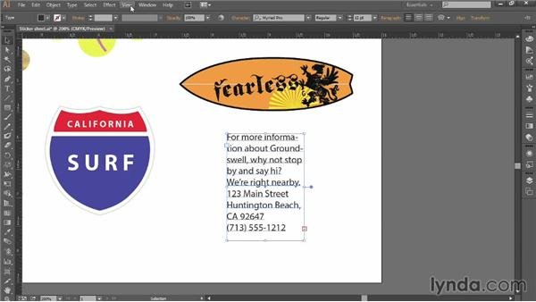Creating and formatting text: Introducing Illustrator